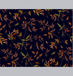 seamless pattern leaf red orange yellow green vector image vector image
