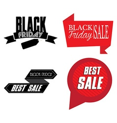 Set of black friday labels vector