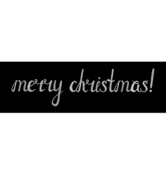 Silver textured inscription merry christmas vector