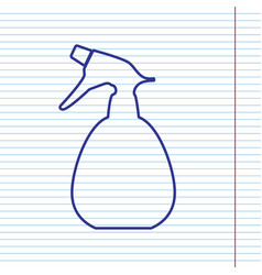 Spray bottle for cleaning sign navy line vector