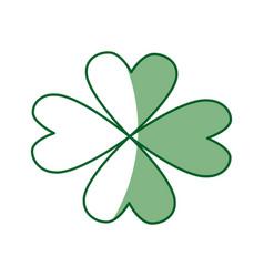 St patricks day celebration four-leaf clover image vector