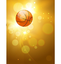 Stylish background of basketball vector