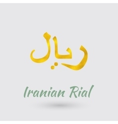 Symbol of the Iranian Rial vector image vector image