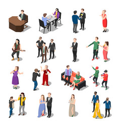 Television show people collection vector