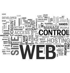 Whose web site is it anyway text word cloud vector
