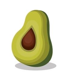Delicious vegetable avocado isolated icon vector