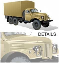 Heavy truck vector