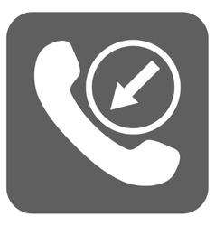 Incoming call flat squared icon vector
