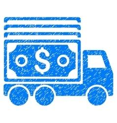 Cash lorry grainy texture icon vector