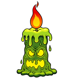 Candle monster vector