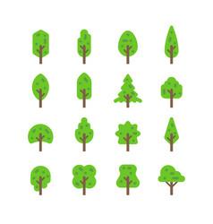 Flat design tree set vector
