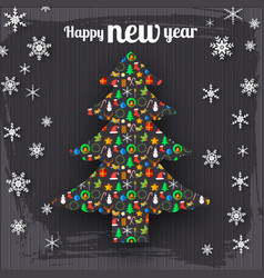 Happy new year decorative template vector