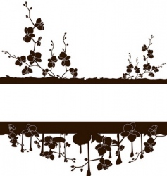 frame with orchids vector image