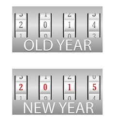 Combination lock old and the new year vector