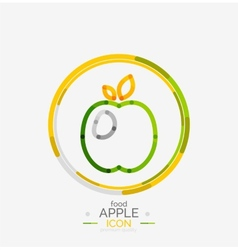 Apple logo concept stamp vector