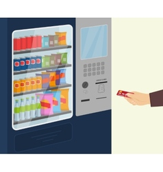 Snack vending machine vector