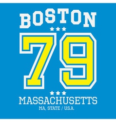 Boston sport team t-shirt typography vector