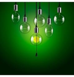 Idea concept light bulbs background vector