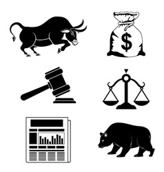 Business stock exchange vector