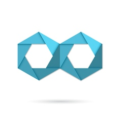 Hexagon infinity logo vector