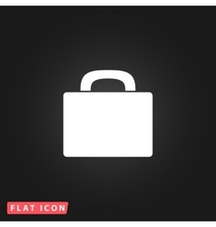 Suitcase flat icon vector