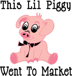 This lil piggy vector
