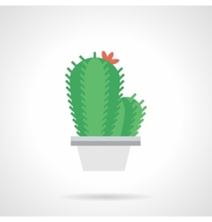 Prickly flower flat color icon vector