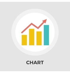 Chart flat single icon vector