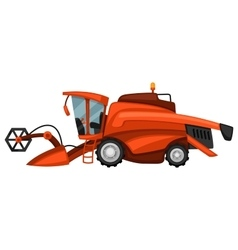 Combine harvester on white background abstract vector