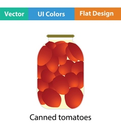 Canned tomatoes icon vector
