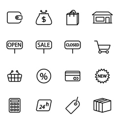 Thin line icons - shop vector