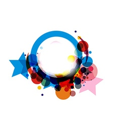 Abstract colorful circle vector image vector image