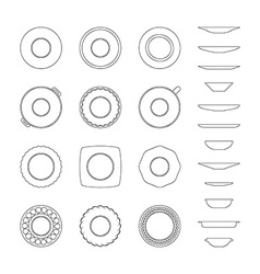 Abstract of dishes vector