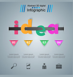 business idea infographics origami style vector image