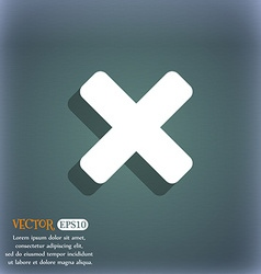 Cancel multiplication icon symbol on the vector