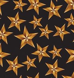 Celebration idea background pentagonal golden vector