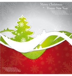 Christmas template frame design for greeting card vector image vector image