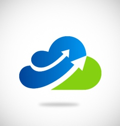 Cloud arrow business logo vector