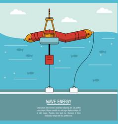 Color sea landscape background alternative energy vector