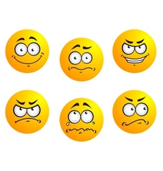 Different smiles expressions vector image