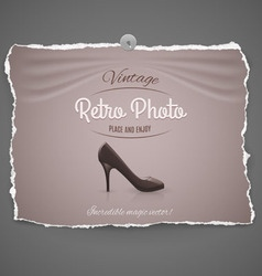 Female shoe on background vector image