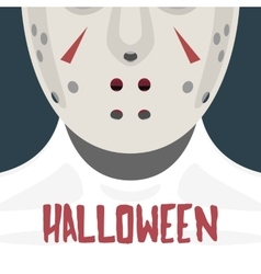 Female with hockey mask vector