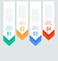 Four steps infographic vertical banners with vector