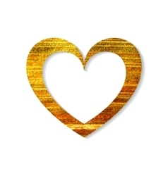 Gold heart frame on a white background vector