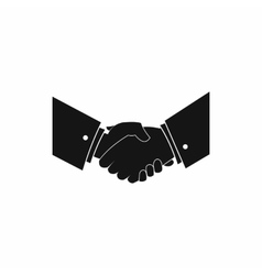 Handshake icon in simple style vector image
