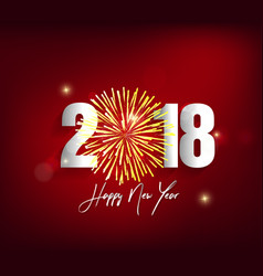 Happy new year 2018 greeting card and merry vector
