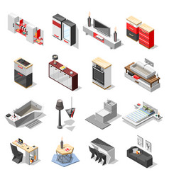 Hi-tech interior furniture collection vector