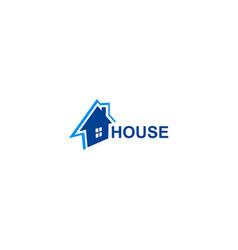 house design logo vector image vector image