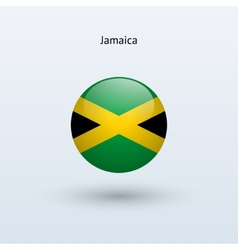 Jamaica round flag vector image vector image