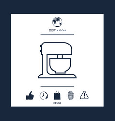 kitchen mixer linear icon vector image